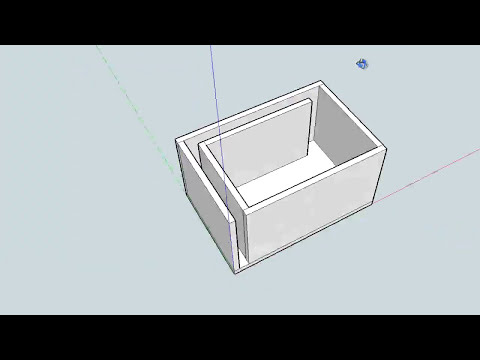 How to build subwoofer enclosure in Google Sketchup 7/8