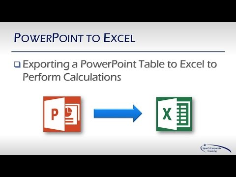 Office Integration - Part 5b - PowerPoint to Excel