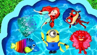 Learn Colors with Ariel, Super Heroes, Minnie Mouse, Pj Masks, Paw Patrol