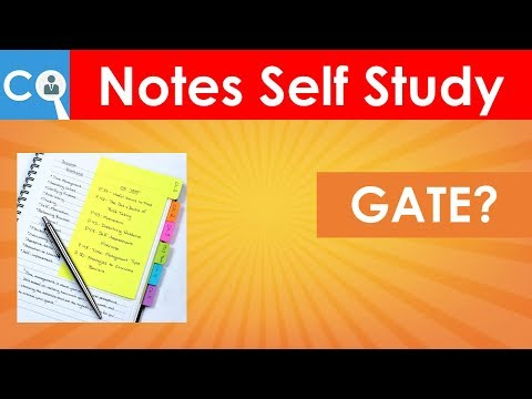 How to Prepare Notes for GATE by Self Preparation from Books