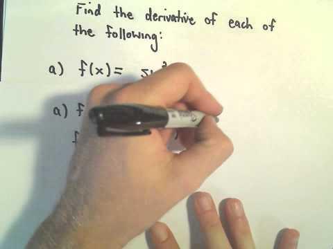 3 Basic Derivative Problems Involving Trigonometric Functions