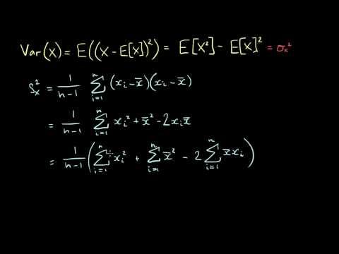 Quick Formula for Sample Variance