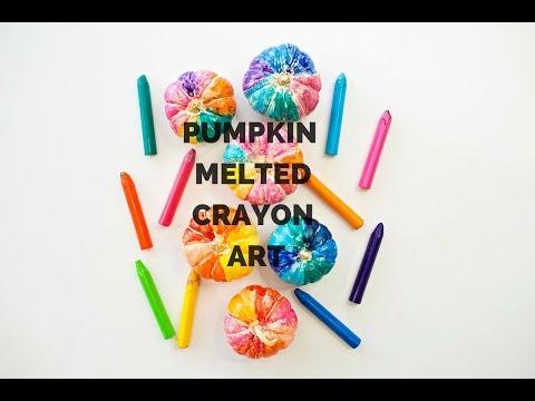 Hot Pumpkin Melted Crayon Art
