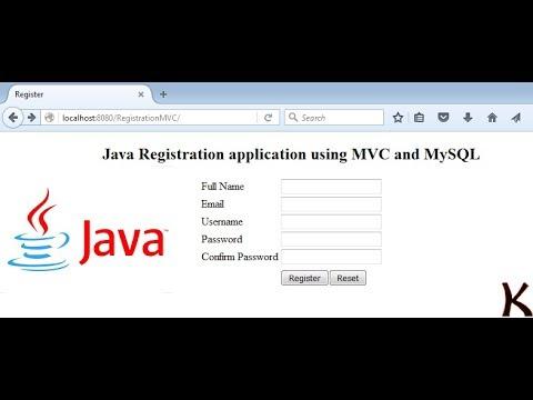 Java Registration application using Servlet, MVC and  MySQL