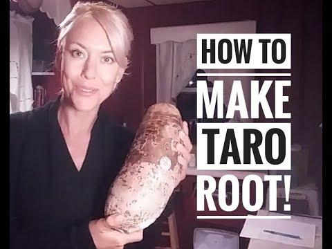 How to make Taro root!