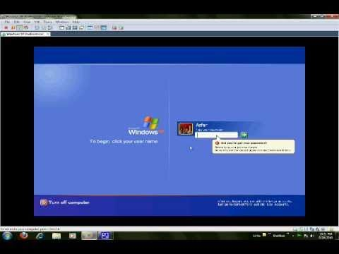 How to reset user password for windows XP