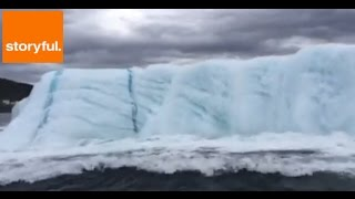 Huge Iceberg Flips Over in Newfoundland (Storyful, Weather)