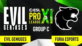 CSGO Evil Geniuses Vs FURIA Esports Nuke Map 3 ESL Pro League Season 11 Group C