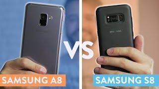 Galaxy A8 vs Galaxy S8    Comparativo!