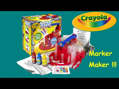 CRAYOLA MARKER MAKER KIT with WACKY TIPS Unboxing -- Easy DIY Color Markers!!