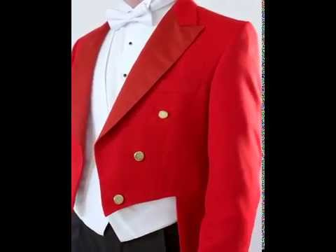 100% Wool, Red Toastmaster Tailcoat with Black Trousers