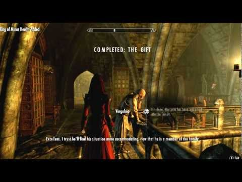 Skyrim Dawnguard: Turning Spouse into a Vampire (The Gift Quest Gameplay)