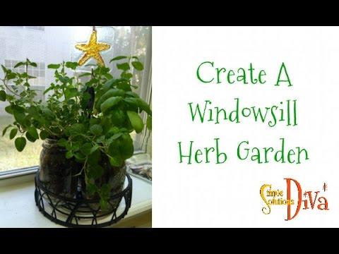 SimpleSolutionsDiva.com: Create A Window Herb Garden