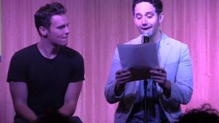 "Santino Fontana and Jonathan Groff Sing ""Do You Want to Build a Snowman"" from Frozen"