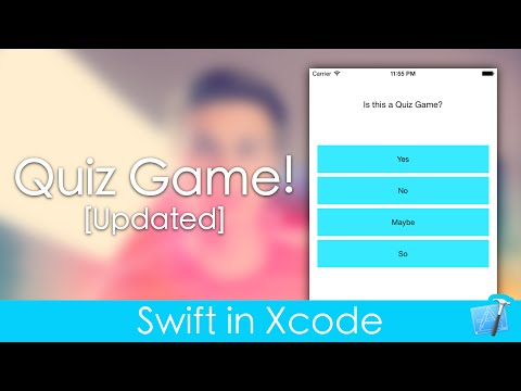 Making A Quiz Game (Swift in Xcode)