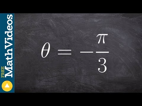 How to find the reference angle of a negative angle in terms of pi