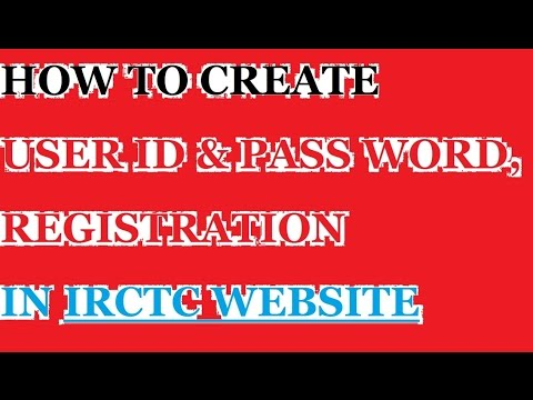 how to create irctc registration