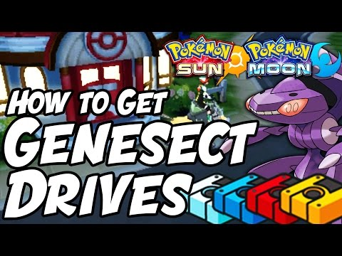 How to Get Genesect Drives in Pokémon Sun and Moon - Genesect Drives Location Sun and Moon