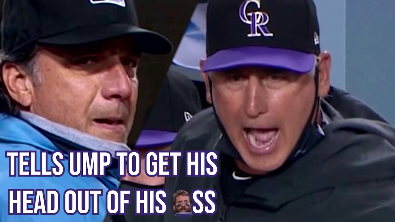Manager tells Umpire to get his head out of his *ss, a breakdown