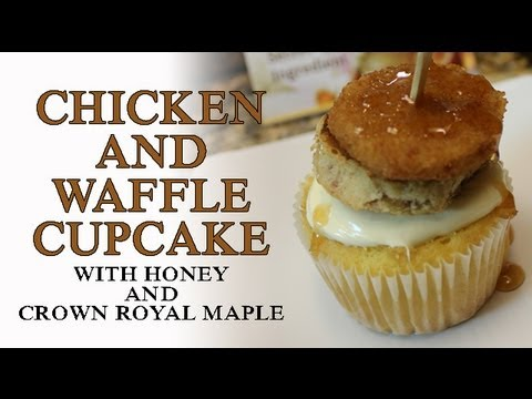 Cocktails In The Kitchen - Chicken and Waffle Cupcakes