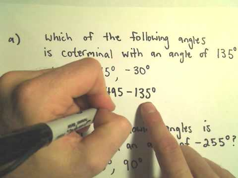 Coterminal Angles - Example 1