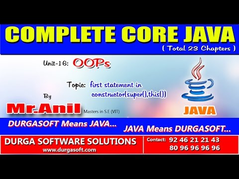 Core Java  -OOPs   first statement in constructor (super(),this())