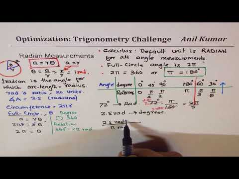 Radian Measurements Degree conversion and Solve Trigonometric Equations
