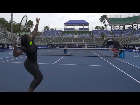 Tennis Trick Shots ft. Serena Williams   Dude Perfect