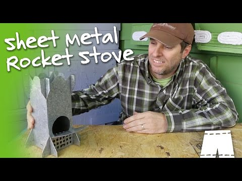 How To Make A Portable Steel Rocket Stove