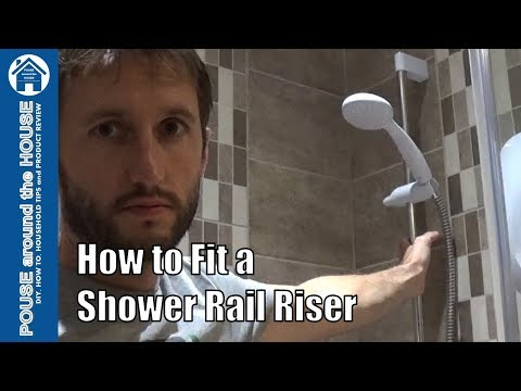 How to fit a shower rail riser bracket. Shower head bracket holder install.