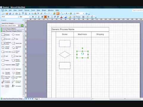 Creating Cross Functional Flow Chart in Visio 2007
