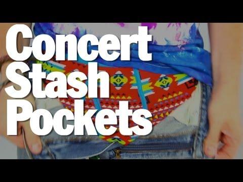 How-To Hide Your Concert Stash  - Threadbanger