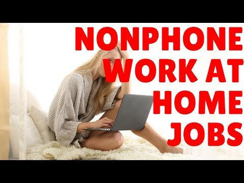 Non-Phone Work At Home Jobs | Email And Online Chat