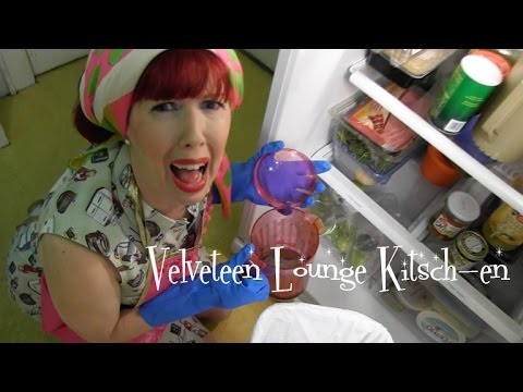 Clean Out Your Refrigerator Day: Velveteen Lounge Kitsch-en