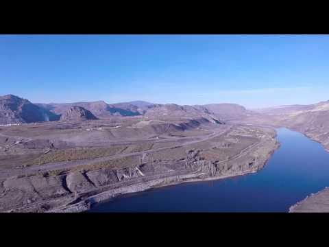 Drone flight over home area