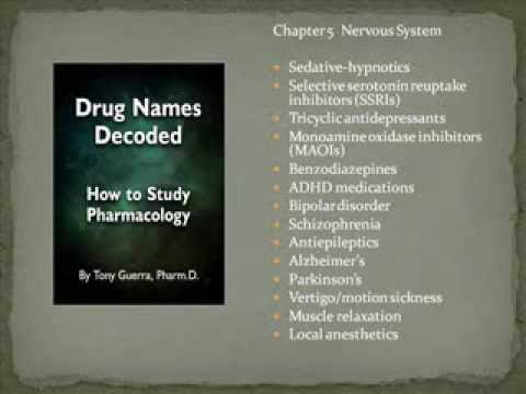 Drug Names Decoded: How to Study Pharmacology Chapter 5 Neuro