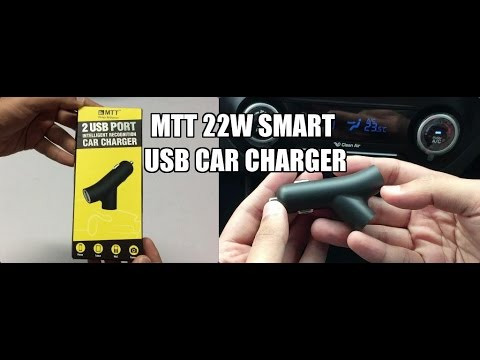MTT 22W Dual Port Smart Car Charger Unboxing And Overview (INDIA)