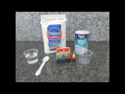 How to make paint with food coloring and obtain secondary colors with texture.