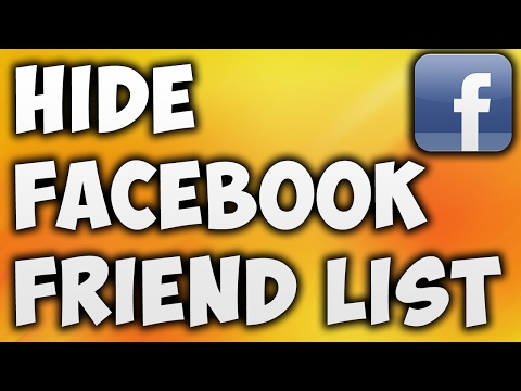 How To Hide Facebook Friend List From Others [BEGINNER'S TUTORIAL]