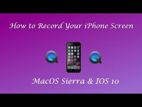 How to Record Your iPhone Screen in QuickTime Player - IOS 10 & MacOS Sierra