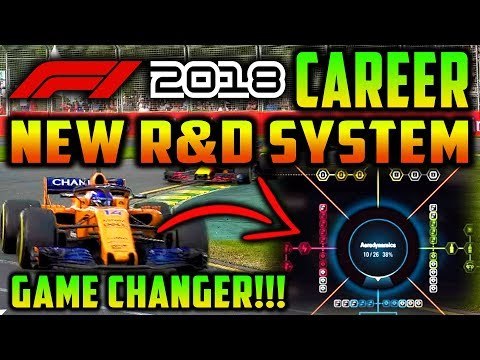 F1 2018 Game Career Mode: GAME CHANGER! NEW R&D SYSTEM! (E3 F1 2018 Game News)