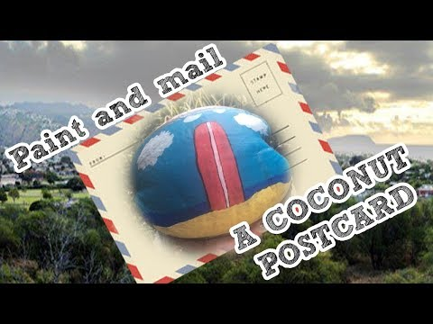Make a COCONUT postcard : A Gift from Hawaii.