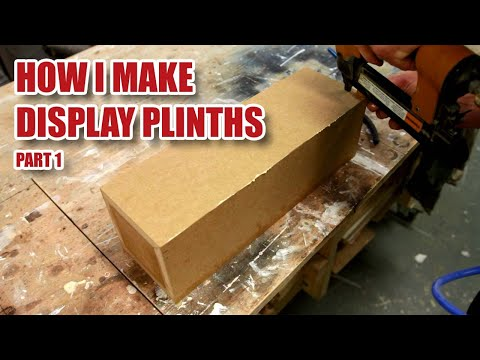 Full Walkthrough - White MDF Display Pedestals / Plinths with a DeWalt DW745 (Part 1 of 3)