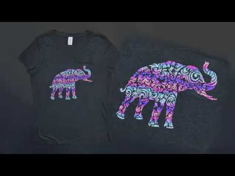Step by Step Guide: CAD-CUT® SparkleBerry Ink Pattern Heat Transfer Vinyl