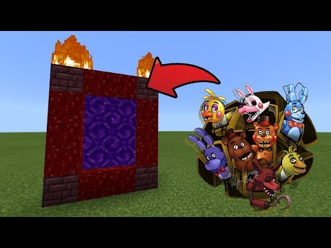 How To Make a Portal to the Fnaf Dimension in MCPE (Minecraft PE)