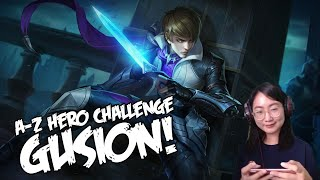 A-Z Hero Challenge | Gusion until I Win in Rank!