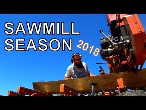 THE 2018 SAWMILL SEASON FINALLY BEGINS! QUARTER SAWING WHITE OAK ON THE WOOD-MIZER