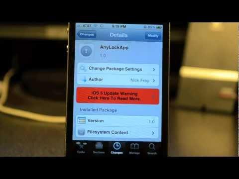iOS 5 AnyLockApp | Cydia Tweak: replace Camera Button on Lock Screen