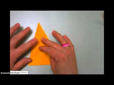 Paper Folding Perpendicular Bisectors
