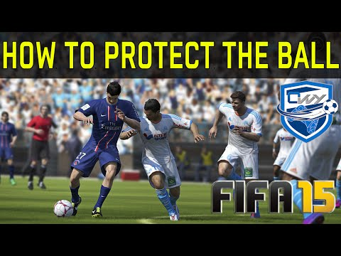 FIFA 15 HOW TO PROTECT THE BALL TUTORIAL + How to push opponents (while running) Tips & Tricks